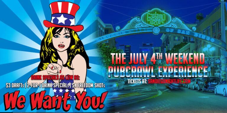 July Fourth San Diego Pub Crawl