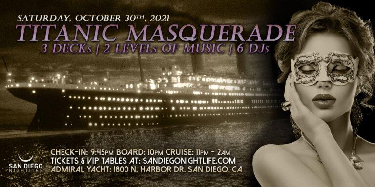 Titanic Masquerade San Diego Halloween Party Cruise